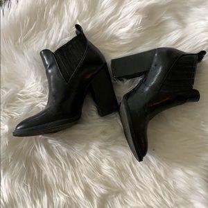 Slip on black booties